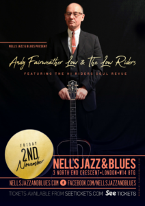 ANDY FAIRWEATHER LOW & THE LOW RIDERS LIVE at Nell's, London