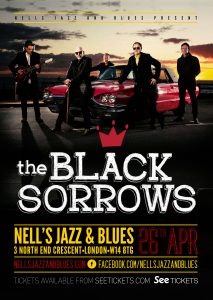 The Black Sorrows LIVE at Nell's, London