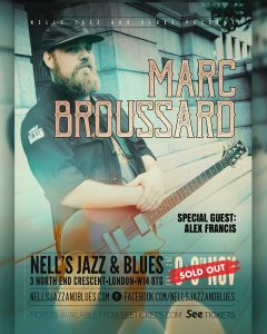 Marc Broussard + special guest Alex Francis LIVE at Nell's, London