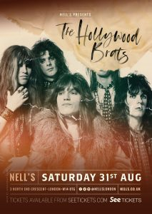 The Hollywood Brats + Special Guest The Vulz LIVE at Nell's, London