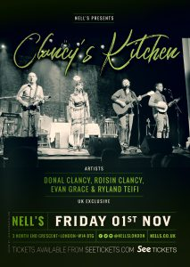 Clancy's Kitchen LIVE at Nell's, London