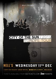 City of The Sun + special guest Leon of Athens – POSTPONED LIVE at Nell's, London