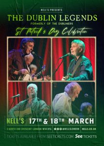The Dublin Legends (formerly of The Dubliners) LIVE at Nell's, London