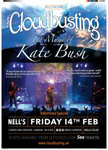 Cloudbusting – The Music of Kate Bush: Valentines Special LIVE at Nell's, London