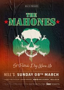 The Mahones – St Patrick's Day Warm Up LIVE at Nell's, London